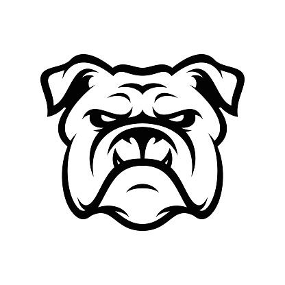 Bulldog Animal Head Mascot Sport Vector Illustration Stock ...