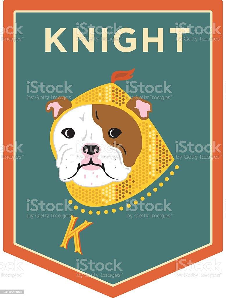 Bulldog Banner vector art illustration