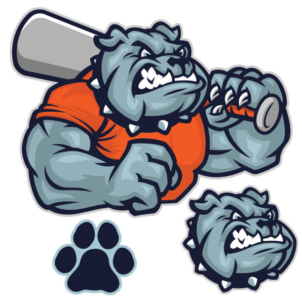 Bulldog baseball pack This is a great baseball sport driven design. Consisting of different elements making customization a snap. mascot stock illustrations