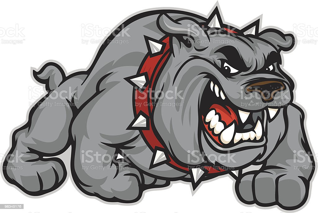 Bulldog classic vector art illustration