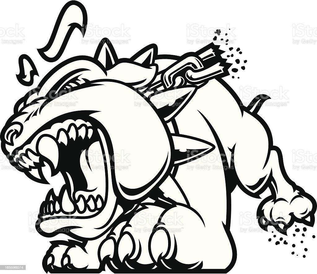 Bulldog deseoso B & W ilustración de bulldog deseoso b w y más banco de imágenes de angustiado libre de derechos