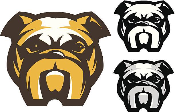 bildbanksillustrationer, clip art samt tecknat material och ikoner med bulldog dog's head - bulldog