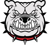 Bulldog head mascot.