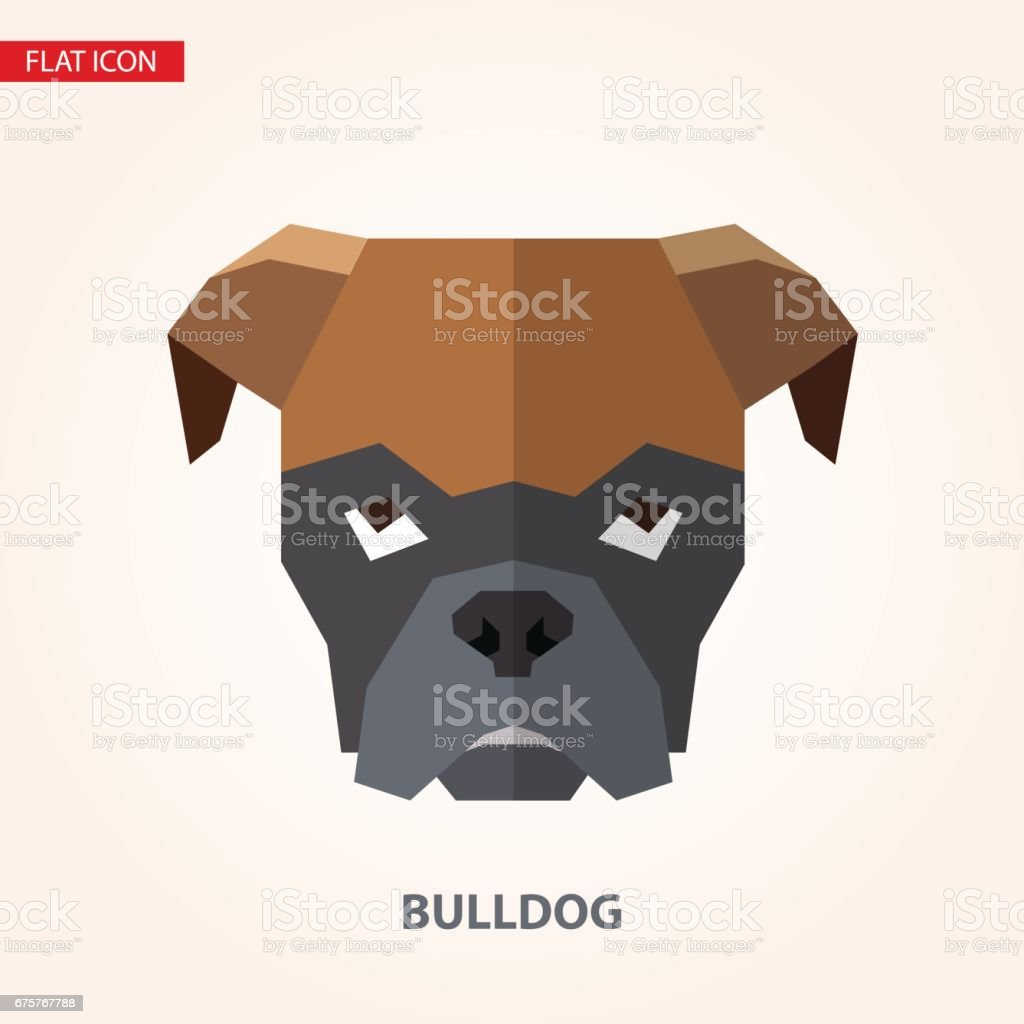 Bulldog head vector illustration. vector art illustration