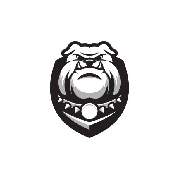 bildbanksillustrationer, clip art samt tecknat material och ikoner med bulldog logo typ - bulldog