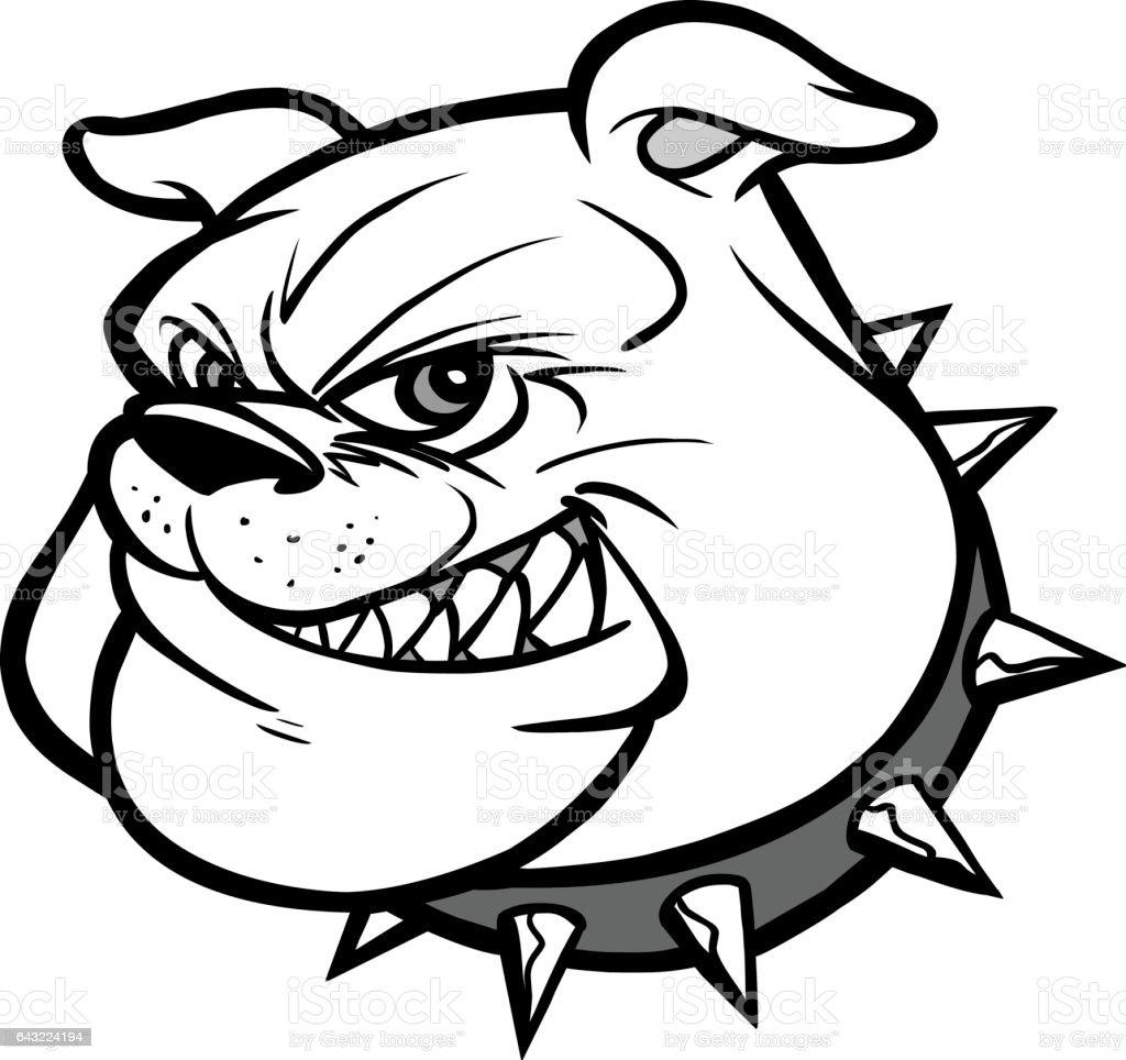Bulldog Mascot Head Illustration vector art illustration
