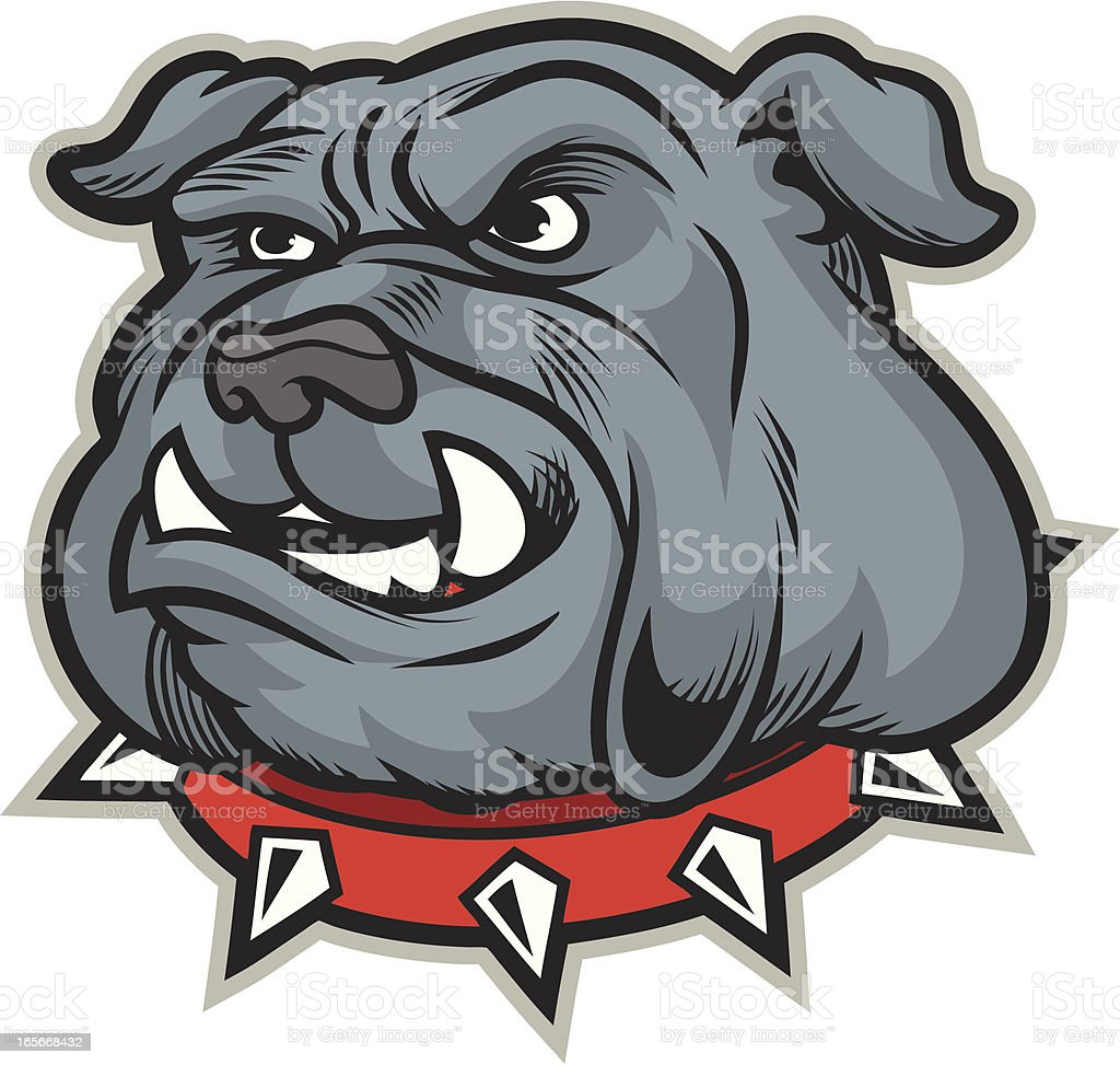 Bulldog Mascot Head vector art illustration