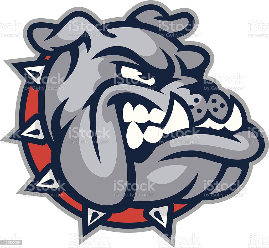 bulldog mascot head stock vector art more images of aggression rh istockphoto com