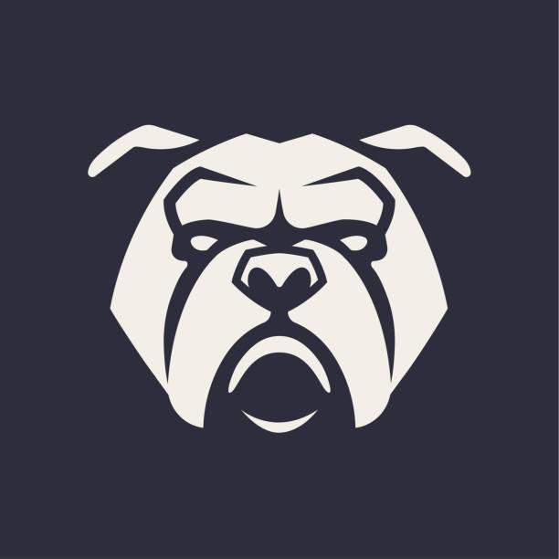 bildbanksillustrationer, clip art samt tecknat material och ikoner med bulldog maskot vektor symbol - bulldog
