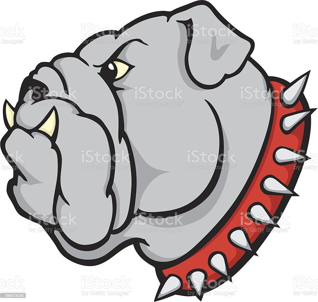 Bulldog Mascot vector art illustration