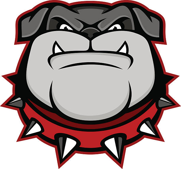stockillustraties, clipart, cartoons en iconen met bulldog mascot - gepunt