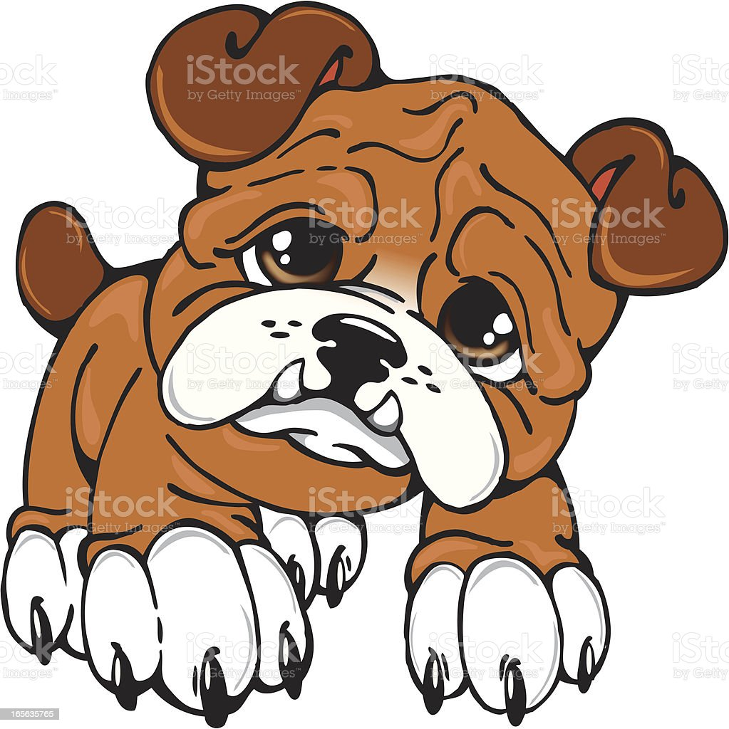 bulldog puppy stock vector art more images of animal 165635765 rh istockphoto com free vector puppy paw print Puppy Love Cartoon