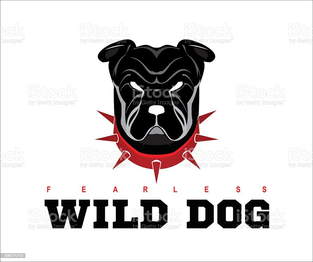 Bulldog. rottweiler. vector art illustration