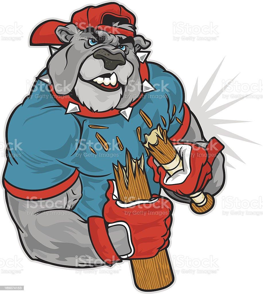 Bulldog Snap vector art illustration