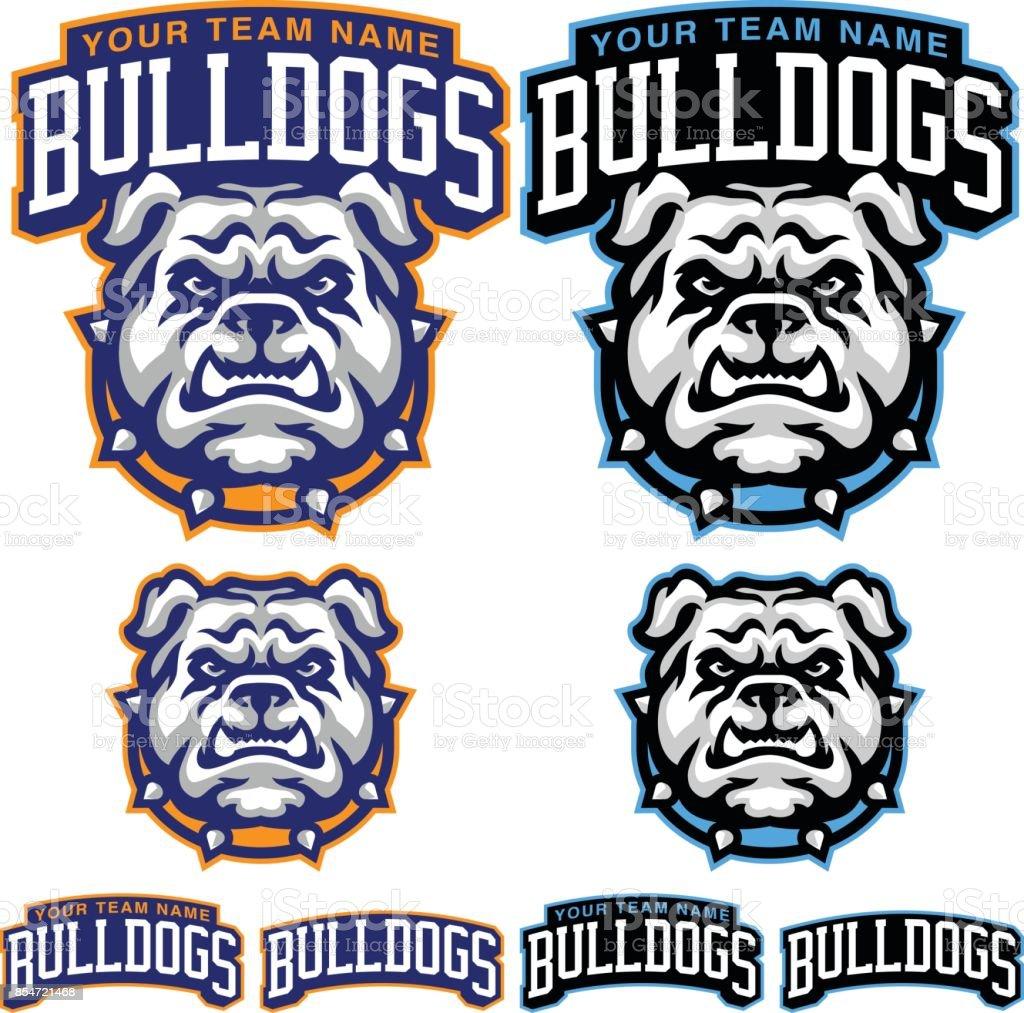 Bulldog Sports Kit vector art illustration