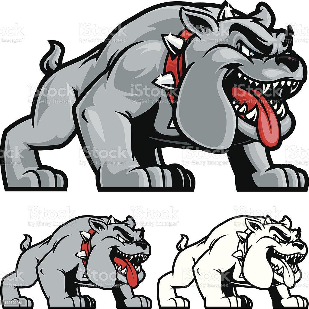 Bulldog Stance II vector art illustration