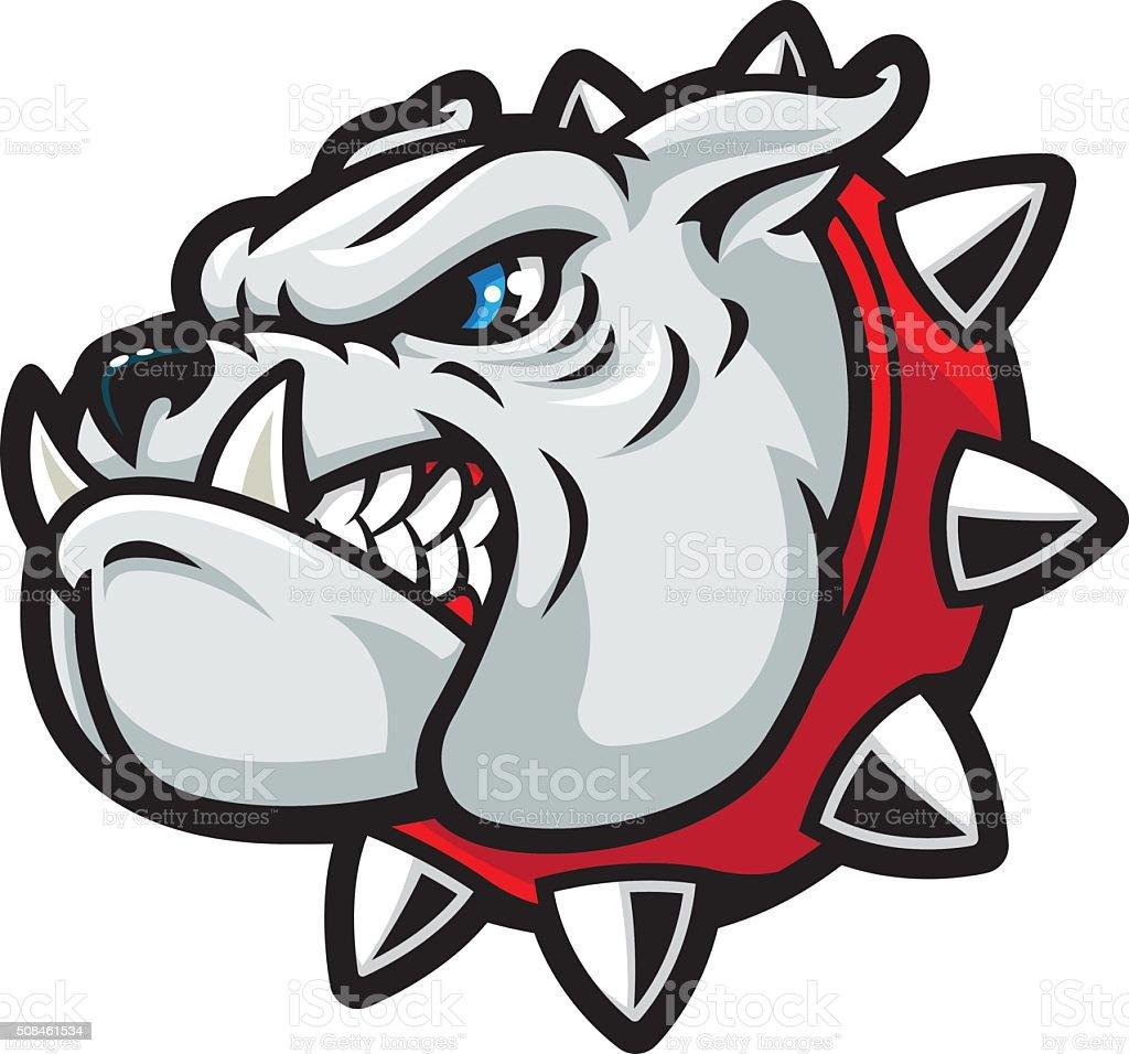 Bulldog Tough vector art illustration