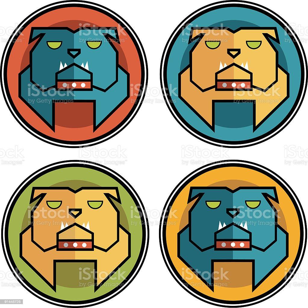 Bulldog vector art illustration