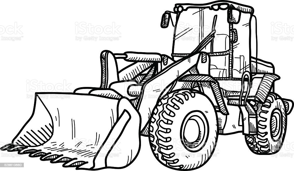 Bulldozer Doodle Stock Vector Art & More Images of ...
