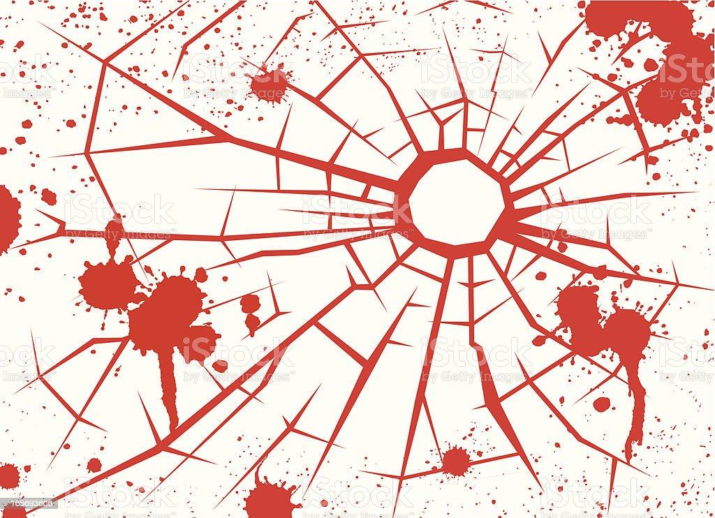 Bullet hole royalty-free stock vector art