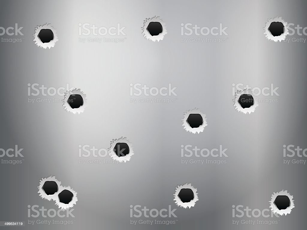 bullet holes background vector art illustration