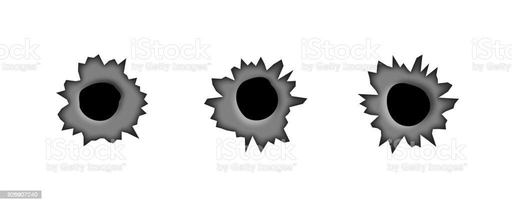 bullet holes isolated vector illustration stock vector art more rh istockphoto com bullet holes vector art bullet hole glass vector