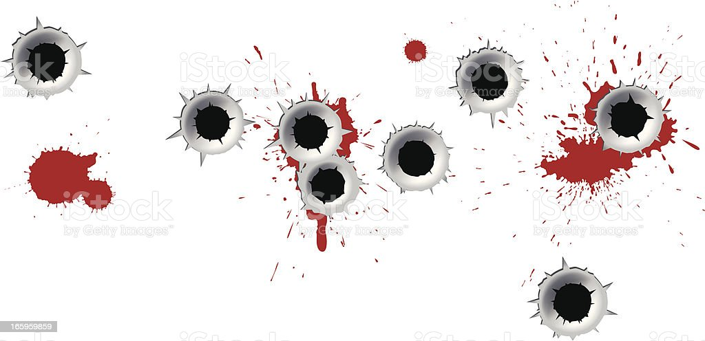 Bullet Holes royalty-free bullet holes stock vector art & more images of arts culture and entertainment
