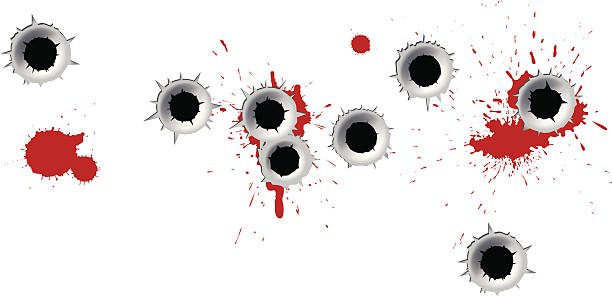 18 Bullet Hole Blood Hole Bullet Clip Art Vector Graphics And