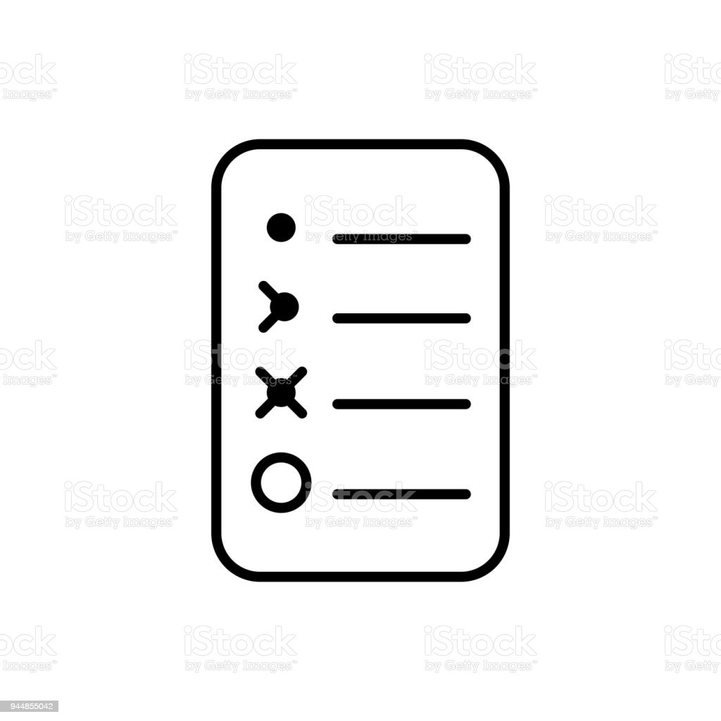 bullet journal icon simple papers task tracker stock vector art