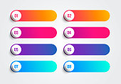 istock Bullet Points With Numbers 1 to 8 In Colorful Text Boxes. Vector Web Element 1316438845