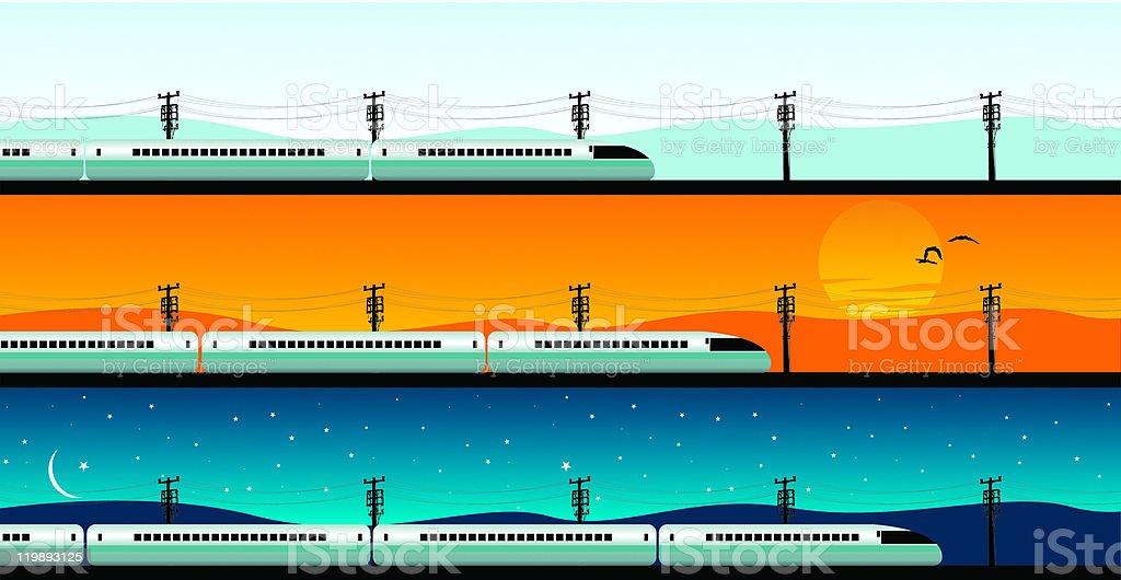 bullet train vector art illustration