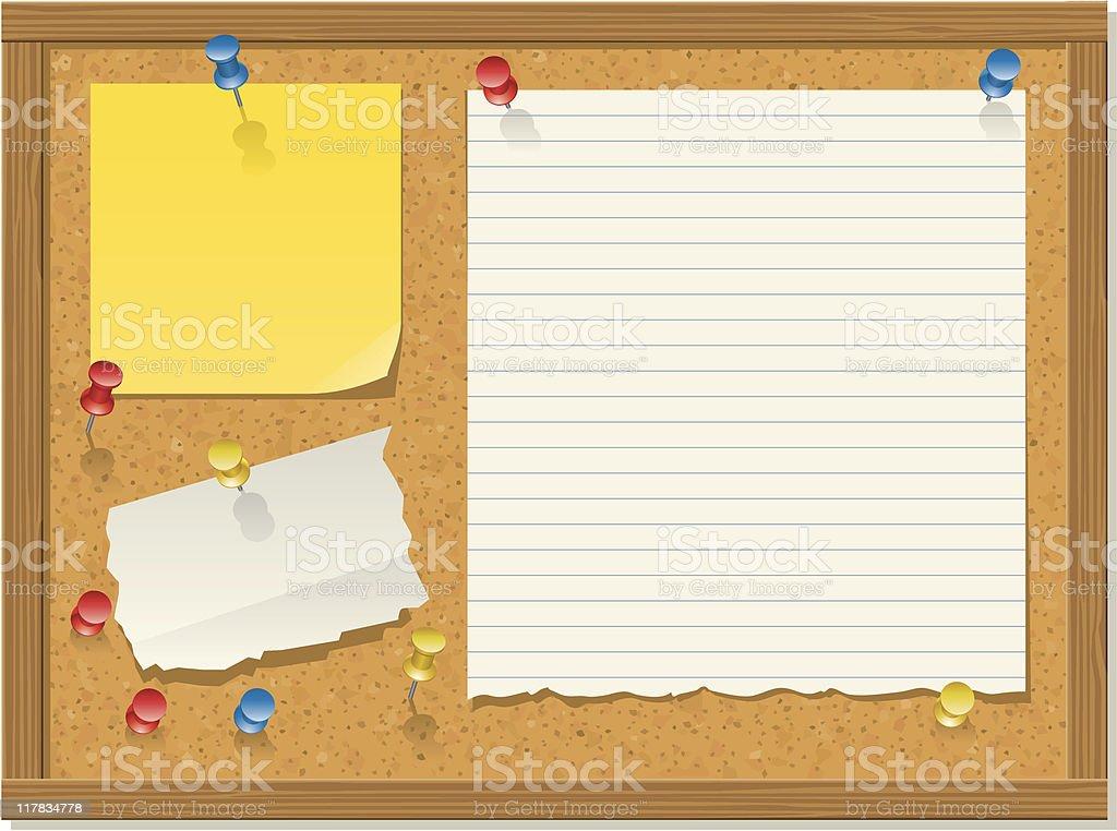 Bulletin board, horizontal version royalty-free bulletin board horizontal version stock vector art & more images of bulletin board