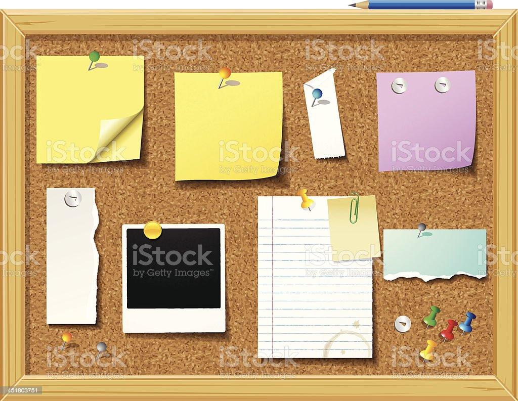 Bulletin Board - Illustration vector art illustration