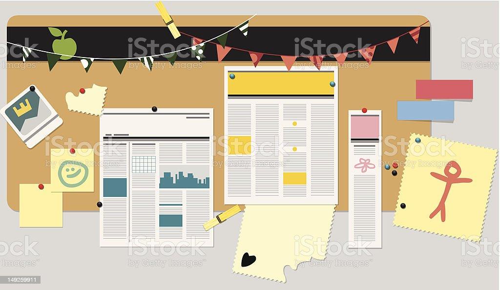 Bulletin Board royalty-free stock vector art