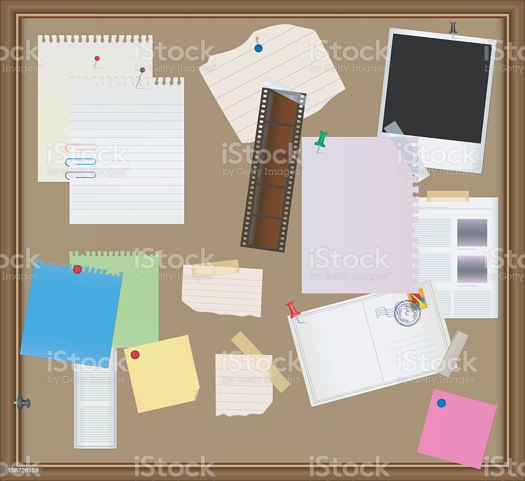 Bulletin board royalty-free bulletin board stock vector art & more images of adhesive note