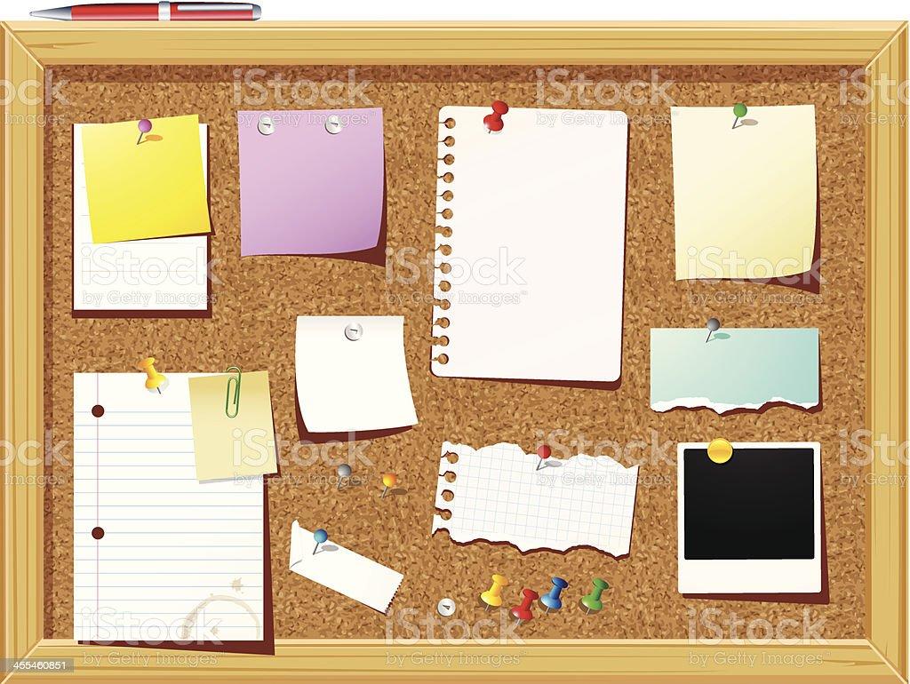 Bulletin Board vector art illustration