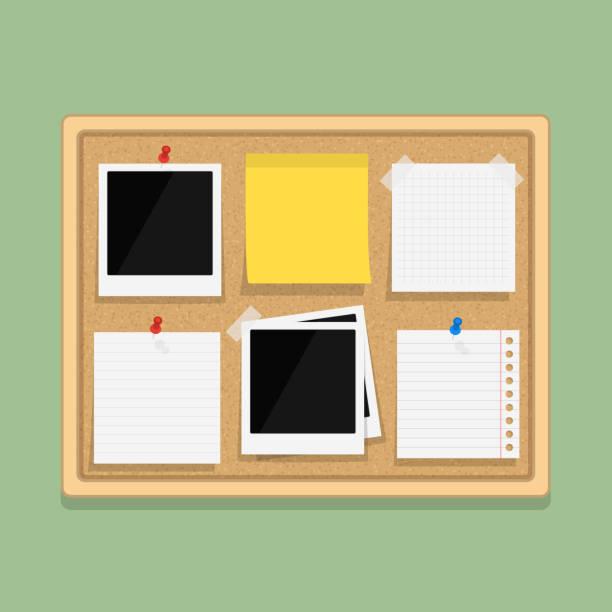 Calendar Illustration Board : Royalty free cork board clip art vector images