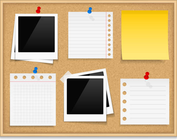bulletin board template word - royalty free cork board clip art vector images