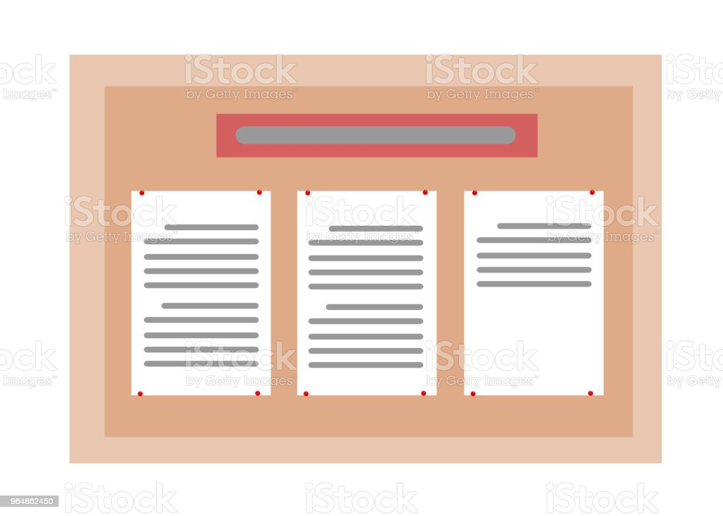 Bulletin board with documents on it royalty-free bulletin board with documents on it stock vector art & more images of australia