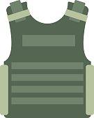 Bulletproof vest vector isolated