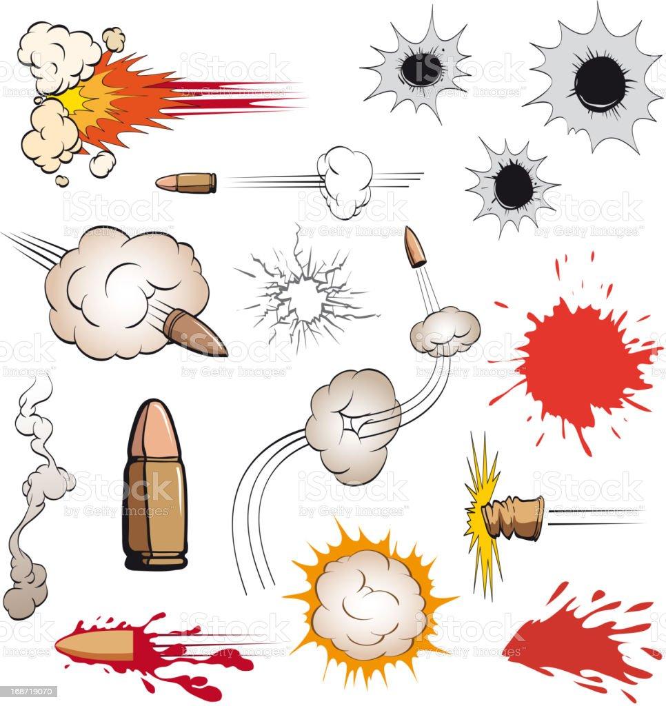 Bullets set vector art illustration