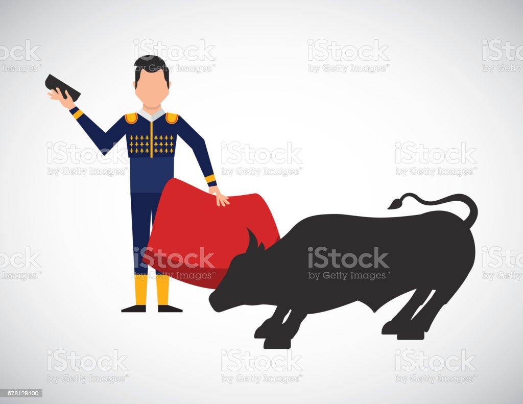 bullfighting classic icon of spanish culture stock vector art