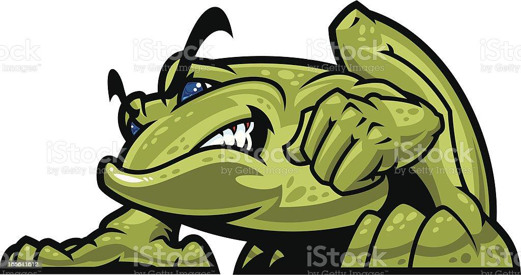 Bullfrog Mascot vector art illustration