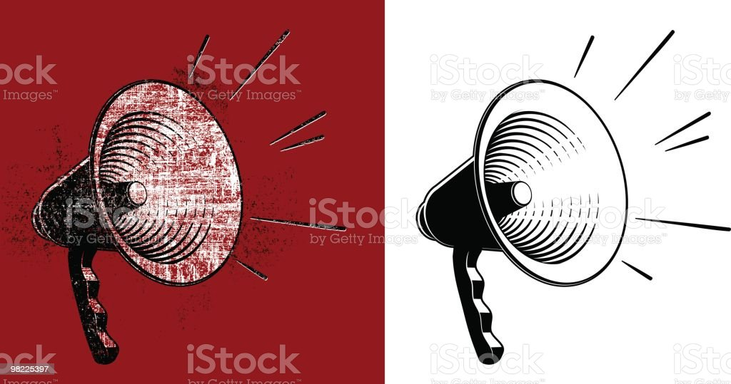 Bullhorn Clipart Pair royalty-free bullhorn clipart pair stock vector art & more images of black and white