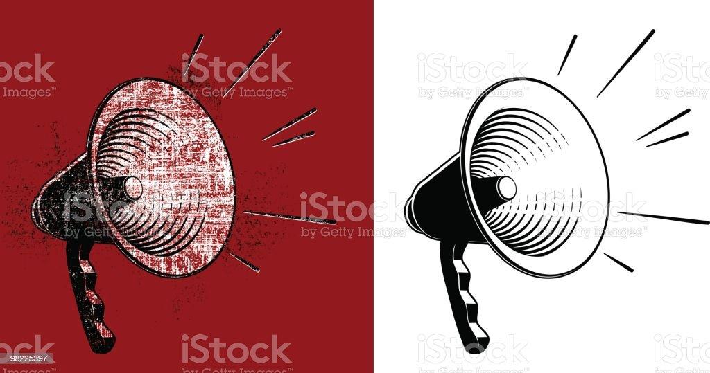 Bullhorn Clipart coppia bullhorn clipart coppia - immagini vettoriali stock e altre immagini di bianco e nero royalty-free