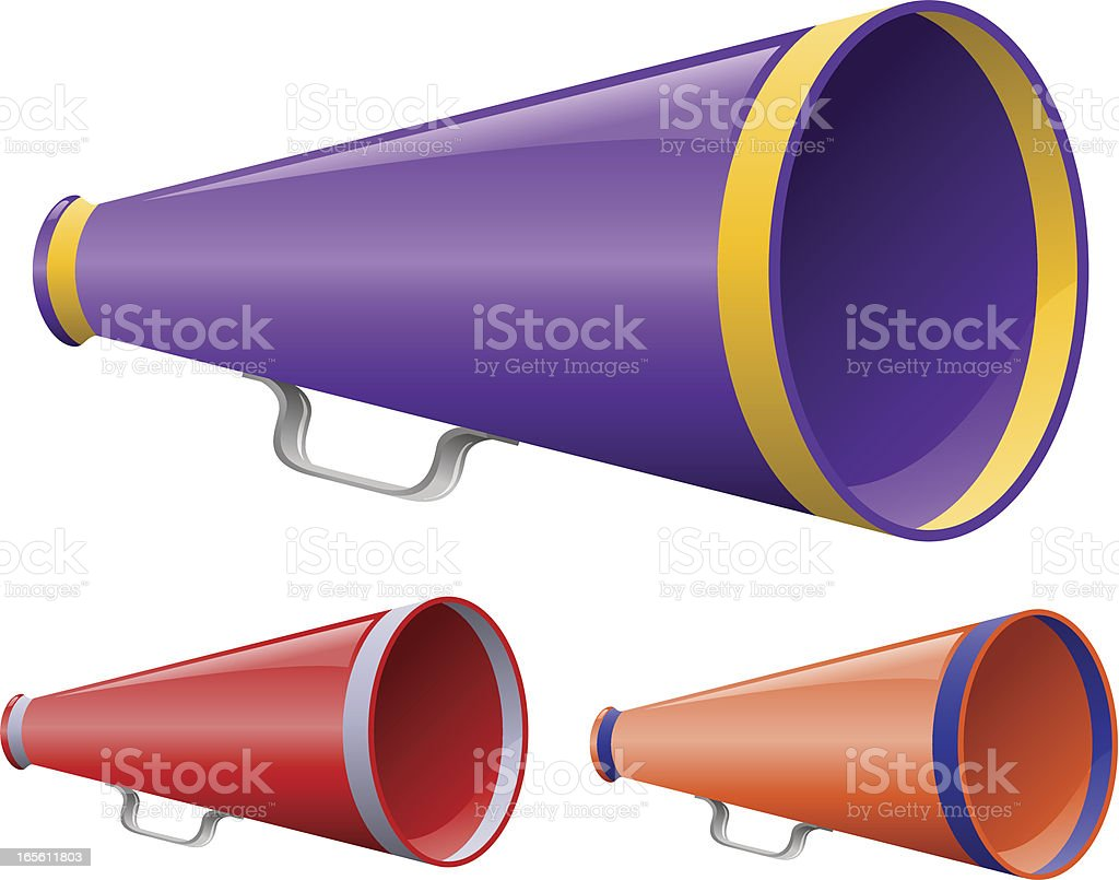 Bullhorn vector art illustration