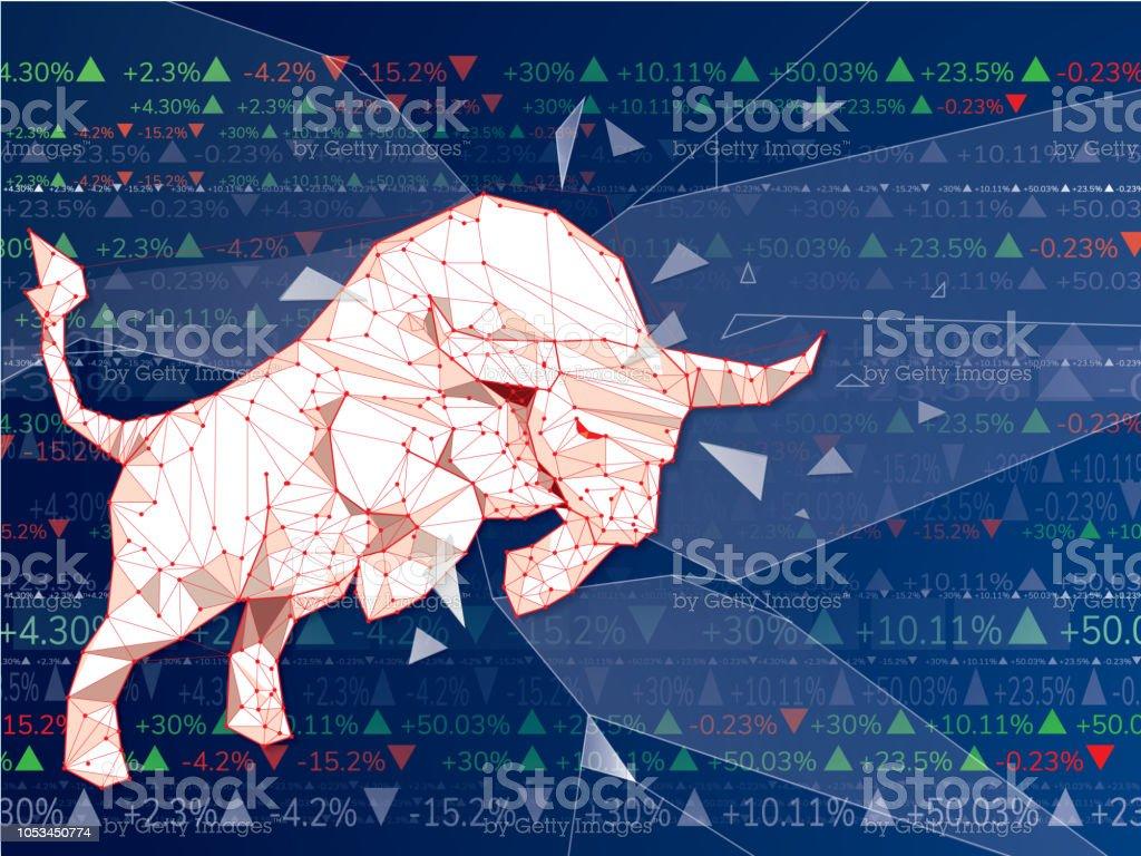 Bullish Symbols On Stock Market Vector Illustration Vector Forex Or