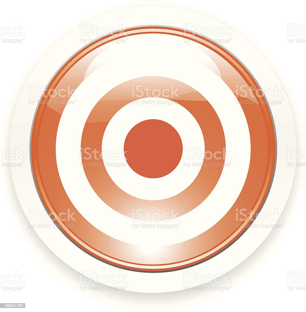 Bull's eye Button royalty-free bulls eye button stock vector art & more images of acute angle