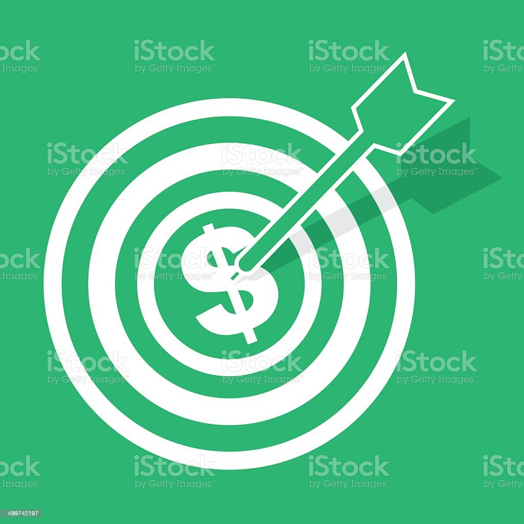 Bulls Eye Money - Royalty-free Accessibility stock vector