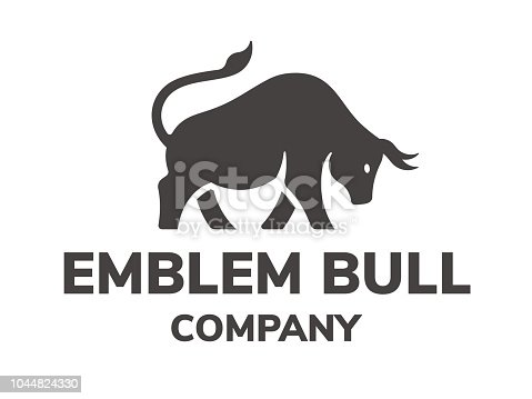 Bull's silhouette - icon, emblem, illustration on a white background